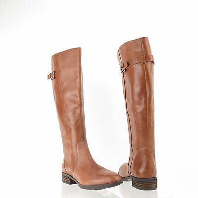 8be24912710 Sam Edelman Patton 2 Women s Whiskey Leather Knee High Riding Boots Sz 6.5  M NEW