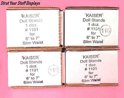 "4 doz KAISER #1101 WHITE Slim Wst STANDS. Fit 6""-7"" tall doll MINI GINNY & RILEY"