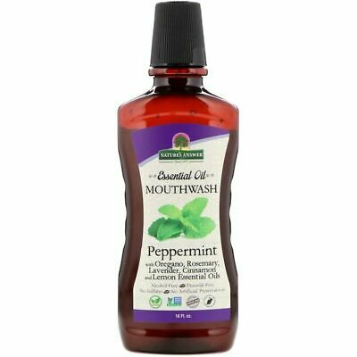 Nature's Answer Essential Oil Mouthwash Peppermint 16 fl oz
