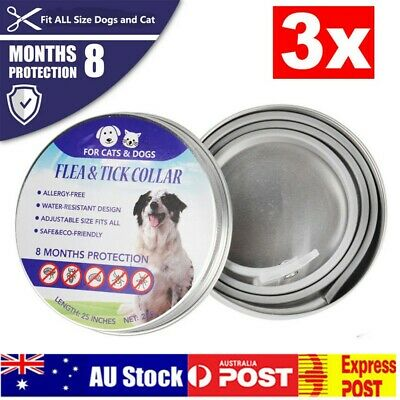 3PCS Flea and Tick Collar for Dogs & Cats Plant Pest Removing Beautiful and Firm