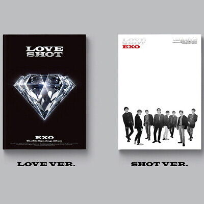 EXO-[Love Shot] 5th Repackage 2 SET CD+72p Booklet+1p PhotoCard+Gift