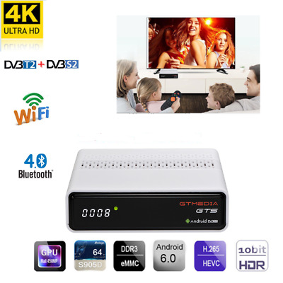 GTMEDIA GTS Android 6.0 Built-in Wifi Amlogic S905D 2G+8G H.265 DVB-S/S2 MPEG-4