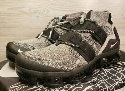 """Nike Air VaporMax Flyknit Utility """"Moon Particle"""" Oreo AH6834-201 Pick Size"""