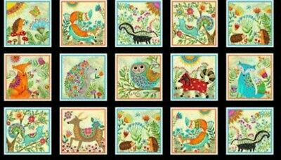 Spring Awakenings Quilt Panel * Animal Greetings * New * Free Post*
