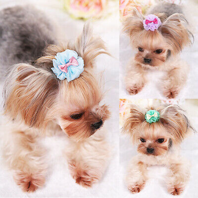 1Pc Dog Cat Puppy Hair Clips Hair Bows Tie Bowknot Hairpin Pet Grooming Decor