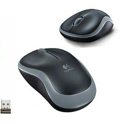 Wireless Logitech Mouse M185 2.4G Easy Compact +Receiver For PC Laptop Mac Linux