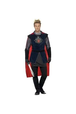 Costume Roi Arthur Medieval Luxe Homme