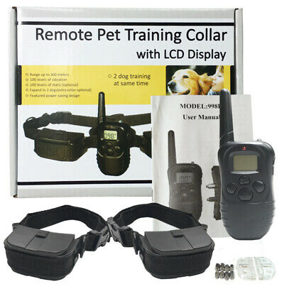 Petrainer Waterproof Rechargeable Electric Remote Dog Shock Training Collar