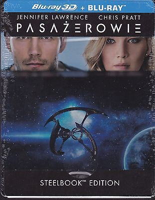 Passengers (2016) 2D + 3D BLU-RAY STEELBOOK AUDIO: ENG SPANISH TURKISH CZECH
