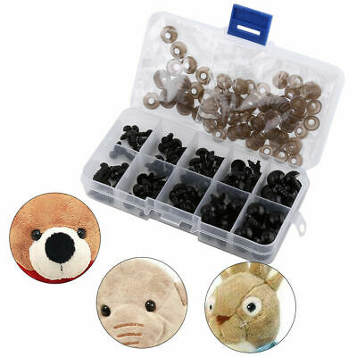 100pcs 6-12mm Plastic Safety Eyes For Teddy Bear Doll Animal Puppet Toy Gaskets