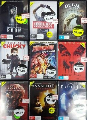 Quality Ex-Rental Used DVD's Assorted Horror Titles