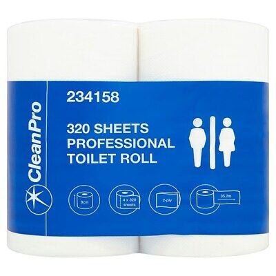 Clean Pro 320 Sheets Professional Toilet Roll 40 Rolls
