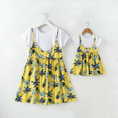 AU Family Matching Clothes Mother&Daughter Dress Women Baby Girls Outfit Dresses