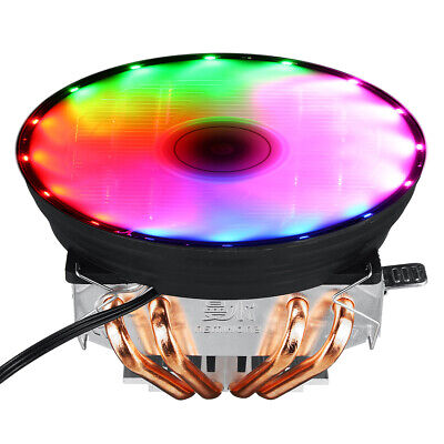 4 Heatpipes 120mm CPU Cooler 3 Pin RGB Fan Mount For LGA 1155/1151/1150/1366 AMD