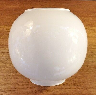 WHITE GLOBE replacement Glass lamp shade for traditional vintage oil lamp