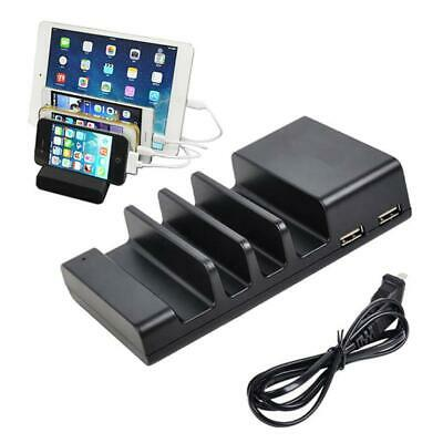 4-Port USB Hub Charging Dock Station Charger Stand Organizer For iPad/iPhone