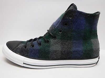 Converse WoolRich Size Mens 7 Womens 9 Hi Tops Wool Blue Gray Sneakers NEW