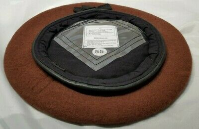 Wholesale / Joblot of x9 British Army Brown Wool Cotton Berets Military Surplus