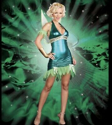 UK10-12 DreamGirl Lil Green Fairy Party Costume Green Style 5886 Medium