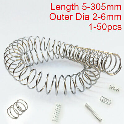 0.3mm Wire Compression Spring 5-200mm 304 Stainless Steel Pressure Springs All