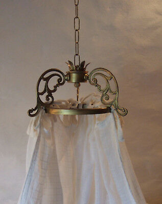 Antique French Gilt Bronze Ciel De Lit Bed Canopy Couronne Crown