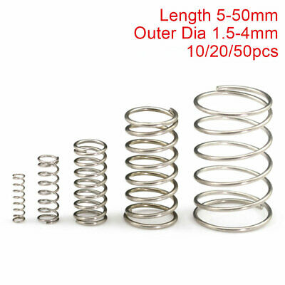 0.2mm Wire Compression Spring 10-50mm 304 Stainless Steel Pressure Springs All