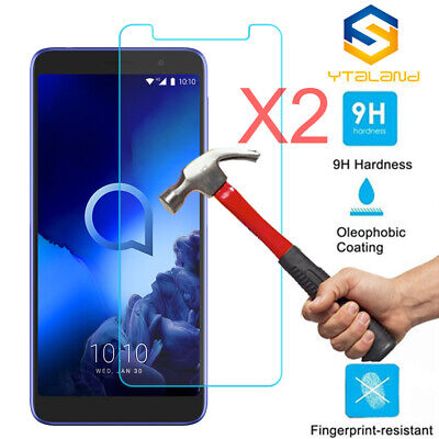 2Pcs Premium Tempered Glass Screen Protector For Alcatel Onyx / 5008R 1X 2019