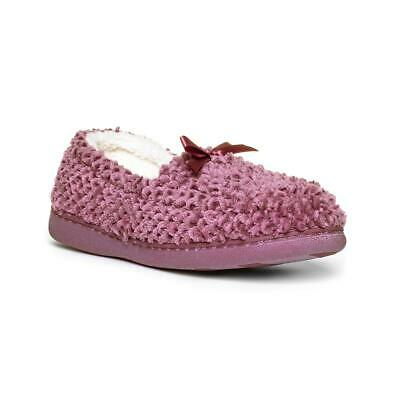 The Slipper Company Womens Pink Moccasin Slipper - Sizes 3,4,5,6,7,8