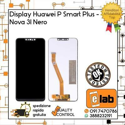 Touch Screen Lcd Display Per Huawei P Smart Plus Nero Ine-Lx1 Lx2 L21 Schermo