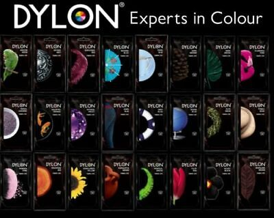 50g PACK DYLON FABRIC CLOTHES HAND WASH DYE COLOURING CHANGING COLOUR TO CHOOSE