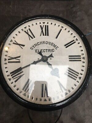 Synchronome Clock - Cast Iron Electric Slave Railway Station Clock.