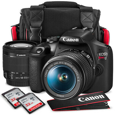 Canon T7 EOS Rebel DSLR Camera with EF-S 18-55mm f/3.5-5.6 is II Lens and UV Fil