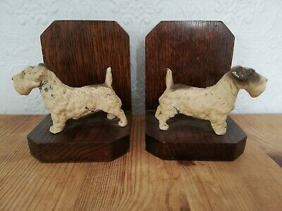 A Pair Of Vintage 1930's Scotty Dog Bookends