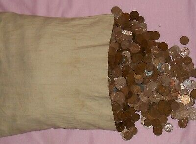 Bag 500 Lincoln Wheat Cent Pennys 3+ lbs PDS Mints 1930s 1940s 1950s = 10 Rolls