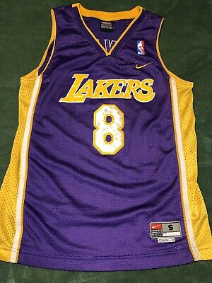 07a0c7d986c Rare Los Angeles Lakers Kobe Bryant  8 classic Nike NBA youth small jersey