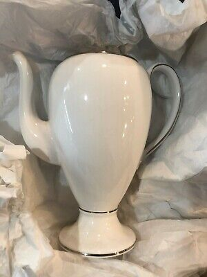 WEDGWOOD  sterling  Creamer Pitcher coffeepot globe Sugar Bowl needs cleaning
