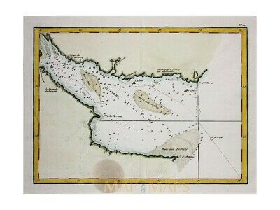 Argentina Old Antique Map Riviere de la Plata Philippe 1787