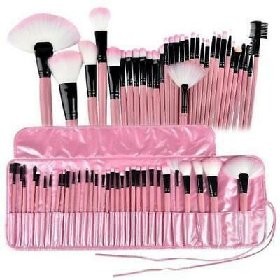 Pink Professional 32Pcs Make Up Brush Set and Cosmetic Brushes Case