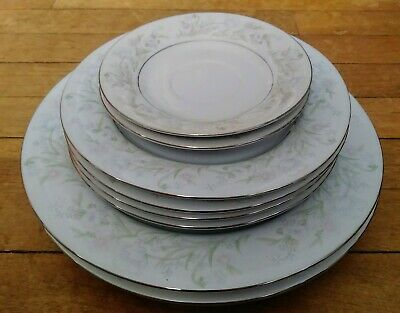 Vintage! Lot Of (9) Crescent Fina China Assorted Plates
