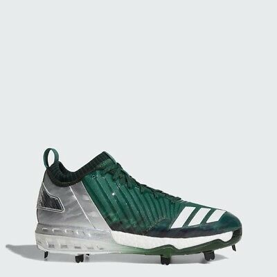 save off 96512 cd8d1 Adidas Boost Icon 3 Faded Metal Baseball Cleats Size 13.5 Green White Silver