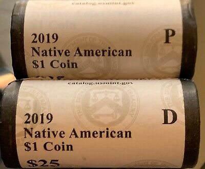 2019 P&D Sacagawea Native American 2 Coins $1 In The Space Program *FREE SHIP*