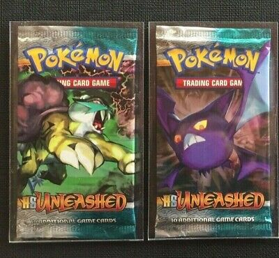 (x1) Pokemon Booster Pack Eng HS Unleashed Sealed and Unweighed
