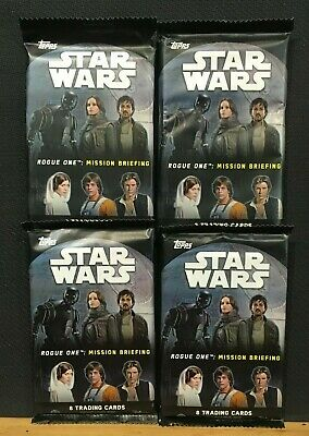 TOPPS Star Wars Rogue one: Mission briefing x4 booster lot