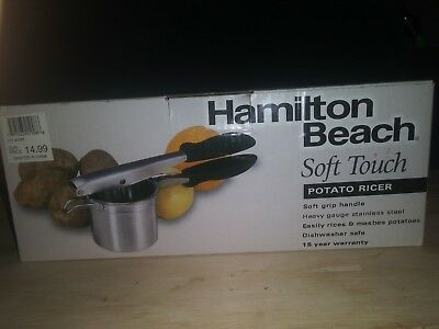 Hamilton Beach Potato Ricer Masher Stainless Steel Fruit Juicer Vegetable Press