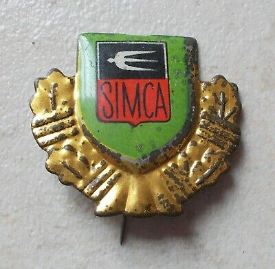 Badge Vintage Pins Auto Automobile SIMCA France ancien 1960s