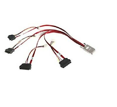 50cm Internal Serial Attached Scsi Sas Cable - Sff8470 To 4x Sff8482