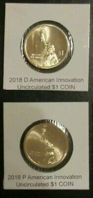 2018 P D(2sets)American Innovation Golden Dollars 4 Best Grade $1 Coins US UNC.