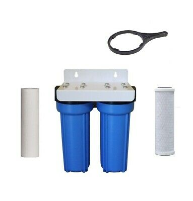 Whole House Twin Stage Water Filter Kit  carbon 5 and sediment 5 micron System