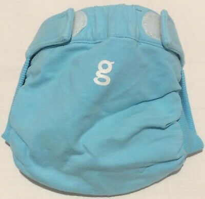 Gdiapers Small Light Blue Gpants & Pouch Euc