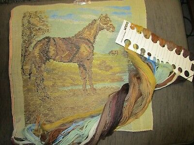 Tramme  Horse Tapestry ,Cushion Cover,Wall Decor , With Radum  Wool 37  X 38 Cm